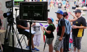 Stand Animation Fond Vert Video Photo